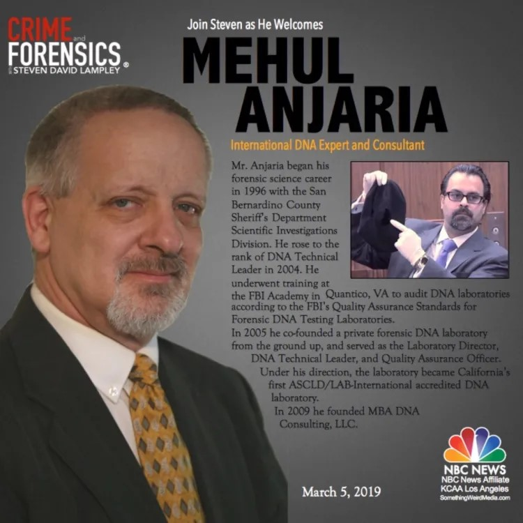 Mehul B. Anjaria talks DNA on Crime and Forensics Podcast